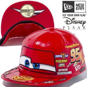 カーズ×ニューエラ 5950キャップ オールオーバー マックイーン レッド マルチカラー スノーホワイト Cars×New Era 59FIFTY Cap Multi Logo McQueen Red cio