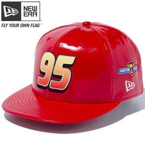 カーズ×ニューエラ 950 スナップバック キャップ マックイーン 95 レッド プリント スノーホワイト Cars×New Era 9FIFTY Snap Back Cap McQueen 95 Red cio
