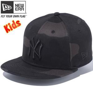 ニューエラ 950チャイルド スナップバック キャップ ニューヨーク ヤンキース ウッドランドカモブラック New Era 9FIFTY Child Snap Back Cap New York Yankees|cio