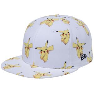 ポケモン×ニューエラ 5950キャップ オールオーバー ピカチュウ ホワイトプリント ブラック Pokemon×New Era 59FIFTY Cap All Over Pikachu White Print Black|cio