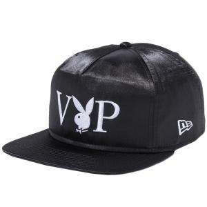 プレイボーイ×ニューエラ ザ ゴルファー VIP ロゴ ブラックサテン スノーホワイト ブラック スノーホワイト Playboy×New Era The Golfer VIP Logo Black Satin|cio