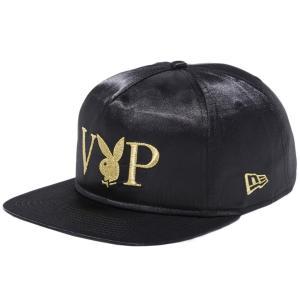 プレイボーイ×ニューエラ ザ ゴルファー VIP ロゴ ブラックサテン メタリックゴールド ブラック メタリックゴールド Playboy×New Era The Golfer VIP Logo|cio