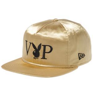 プレイボーイ×ニューエラ ザ ゴルファー VIP ロゴ ゴールドサテン ブラック メタリックゴールド ブラック Playboy×New Era The Golfer VIP Logo Gold Satin|cio