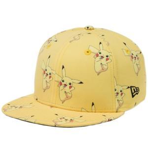 ポケモン×ニューエラ 950 スナップバック キッズ キャップ オールオーバー ピカチュウ イエロープリント Pokemon×New Era 9FIFTY Snapback Kids Pikachu|cio