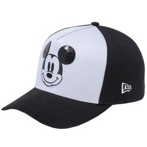 ディズニー×ニューエラ 940キャップ ゴルフ ディーフレームトラッカー シークインド レトロ ミッキーマウス ホワイト Disney×New Era 9FORTY Golf Mickey|cio