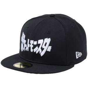 ポケモン×ニューエラ 5950キャップ ホワイトロゴ カタカナ ロゴ ブラック スノーホワイト Pokemon×New Era 59FIFTY Cap White Logo Katakana Logo Black|cio