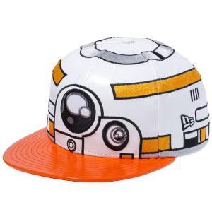 スターウォーズ×ニューエラ 5950キャップ オールオーバー BB8 ホワイトエナメル オレンジエナメル Star Wars×New Era 59FIFTY Cap All Over BB8 White|cio