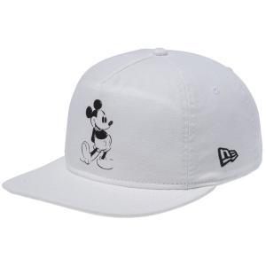 ディズニー×ニューエラ ザ ゴルファー スナップバック キャップ レトロ ミッキーマウス ウォッシュドアイボリーダック Disney×New Era Golfer Mickey Mouse|cio