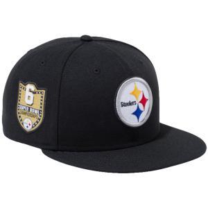 ニューエラ 950 スナップバック キャップ NFLカスタム ピッツバーグスティーラーズ ブラック New Era 9FIFTY Snapback Cap NFL Custom Pittsburgh Steelers|cio