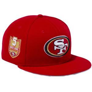 ニューエラ 950 スナップバック キャップ NFLカスタム サンフランシスコ49ers スカーレット New Era 9FIFTY Snapback Cap NFL Custom San Francisco 49ers|cio