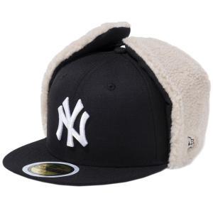 ニューエラ 5950キッズ キャップ ドッグイヤー ニューヨークヤンキース ブラック スノーホワイト New Era 59FIFTY Kids Cap Dog Ear New York Yankees|cio