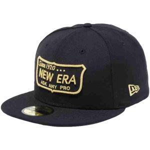ニューエラ 5950キャップ ゴールドロゴ ニューエラ オールドロゴ ブラック メタリックゴールド New Era 59FIFTY Cap Gold Logo New Era Old Logo Black Gold|cio