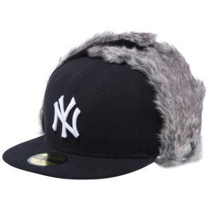 ニューエラ 5950トラッパーキャップ ウォッシュドダック ニューヨークヤンキース ブラック New Era 59FIFTY Trapper Cap Washed Duck New York Yankees Black cio