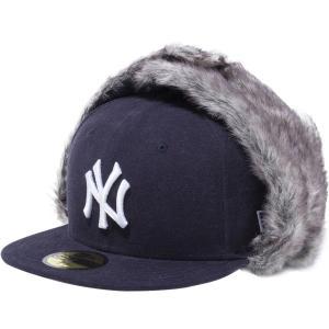 ニューエラ 5950トラッパーキャップ ウォッシュドダック ニューヨークヤンキース ネイビー New Era 59FIFTY Trapper Cap Washed Duck New York Yankees Navy cio