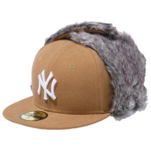 ニューエラ 5950トラッパーキャップ ウォッシュドダック ニューヨークヤンキース タン New Era 59FIFTY Trapper Cap Washed Duck New York Yankees Tan cio