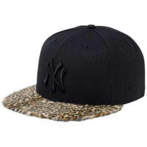 ニューエラ 950 スナップバック キャップ レオパードファー ニューヨークヤンキース ブラック イエローレオパード New Era 9FIFTY Leopard Fur New York Yankees|cio
