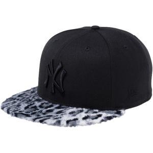 ニューエラ 950 スナップバック キャップ レオパードファー ニューヨークヤンキース ブラック ホワイトレオパード New Era 9FIFTY Leopard Fur New York Yankees|cio