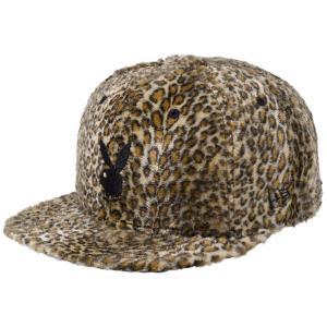 プレイボーイ×ニューエラ 950 スナップバック キャップ レオパードファー ラビットヘッド ブラウンレオパード Playboy×New Era 9FIFTY Leopard Rabbit Head|cio
