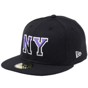 ニューエラ 5950キャップ マルチロゴ ベーシックファブリック ニューヨーク NY ブラック クローム ブラック New Era 59FIFTY Cap Multi Basic Fabrics New York|cio