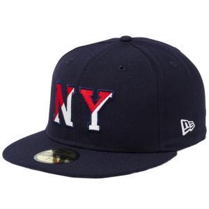 ニューエラ 5950キャップ マルチロゴ ベーシックファブリック ニューヨーク NY ネイビー New Era 59FIFTY Cap Multi Logo Basic Fabrics New York|cio