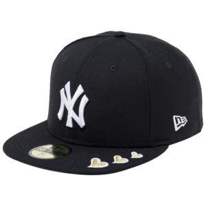 ニューエラ 5950キャップ ホワイトロゴ ゴールドハート ニューヨークヤンキース ブラック New Era 59FIFTY Cap White Logo Gold Heart New York Yankees|cio
