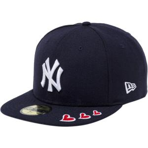 ニューエラ 5950キャップ ホワイトロゴ レッドハート ニューヨークヤンキース ネイビー New Era 59FIFTY Cap White Logo Red Heart New York Yankees Navy|cio