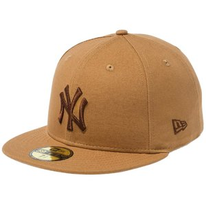 ニューエラ 5950キャップ ブラウンロゴ ダックキャンバス ニューヨークヤンキース タン ブラウン New Era 59FIFTY Cap Brown Logo Duck Canvas New York Yankees cio
