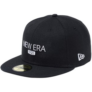 ニューエラ 5950キャップ ホワイトロゴ ベーシックファブリック 1920 ロゴ ブラック New Era 59FIFTY Cap White Logo Basic Fabrics 1920 Logo Black Snow White|cio