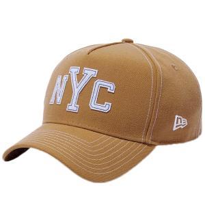 ニューエラ 940 エーフレーム コントラストスティッチ ニューヨークシティ NYC ウィート フェルトパッチ New Era 9FORTY Cap Contrast Stitch New York City cio