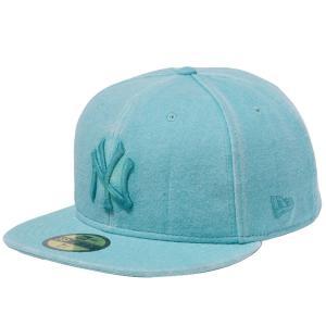 ニューエラ 5950キャップ グリーンロゴ ニューヨークヤンキース スウェット イタリアンウォッシュ グリーン New Era 59FIFTY Cap Green Logo New York Yankees|cio