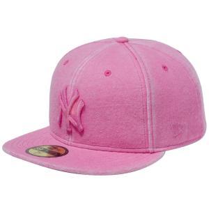 ニューエラ 5950キャップ ピンクロゴ ニューヨークヤンキース スウェット イタリアンウォッシュ ピンク New Era 59FIFTY Cap Pink Logo New York Yankees|cio