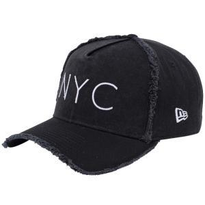 ニューエラ 940キャップ エーフレームトラッカー ニューヨークシティ NYC ダメージ ブラック New Era 9FORTY Cap A-Frame Trucker New York City NYC|cio