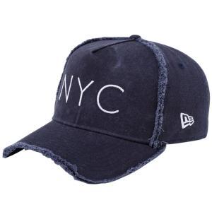 ニューエラ 940キャップ エーフレームトラッカー ニューヨークシティ NYC ダメージ ネイビー New Era 9FORTY Cap A-Frame Trucker New York City NYC|cio