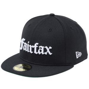 ニューエラ 5950キャップ ホワイトロゴ オールドイングリッシュ フェアファックス ブラック New Era 59FIFTY Cap White Logo Old English Fairfax Black|cio