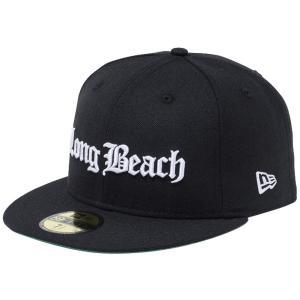 ニューエラ 5950キャップ ホワイトロゴ オールドイングリッシュ ロングビーチ ブラック スノーホワイト New Era 59FIFTY Cap White Logo Old English Long Beach|cio