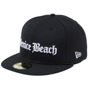 ニューエラ 5950キャップ ホワイトロゴ オールドイングリッシュ ベニスビーチ ブラック New Era 59FIFTY Cap White Logo Old English Venice Beach|cio