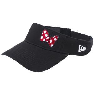 ディズニー×ニューエラ サンバイザー ゴルフ シークインド ミニーマウス リボン ブラック Disney×New Era Sun Visor Golf Sequined Minnie Mouse Ribbon cio