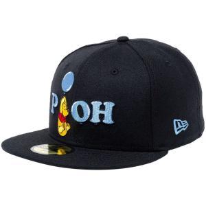 ディズニー×ニューエラ 5950キャップ マルチロゴ くまのプーさん バルーン ブラック ブルー Disney×New Era 59FIFTY Cap Multi Logo Winnie The Pooh|cio