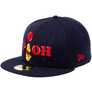 ディズニー×ニューエラ 5950キャップ マルチロゴ くまのプーさん バルーン ネイビー レッド Disney×New Era 59FIFTY Cap Multi Logo Winnie The Pooh|cio