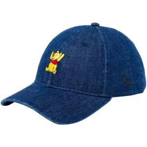 ディズニー×ニューエラ 920キャップ クローズストラップ くまのプーさん キャラクター デニム Disney×New Era 9TWENTY Cap Cloth Strap Winnie The Pooh|cio