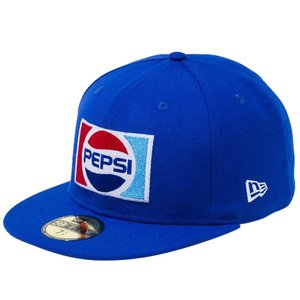 ペプシ×ニューエラ 5950キャップ マルチロゴ 1987 ロゴ ブライトロイヤル マルチカラー Pepsi×New Era 59FIFTY Cap Multi Logo 1987 Logo Bright Royal|cio
