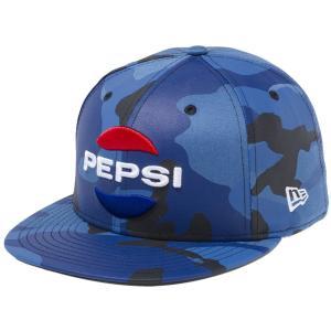 ペプシ×ニューエラ 5950キャップ マルチロゴ ブルーカモ スノーホワイト ラディアントレッド チャウブルー Pepsi×New Era 59FIFTY Cap Multi Logo Blue Camo|cio
