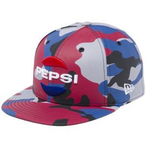 ペプシ×ニューエラ 5950キャップ マルチロゴ グレーカモ スノーホワイト ラディアントレッド チャウブルー Pepsi×New Era 59FIFTY Cap Multi Logo Gray Camo|cio