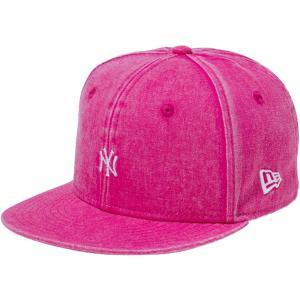 ニューエラ 950チャイルド コットンツイル イタリアンウォッシュ ニューヨークヤンキース スモールロゴ ブライトローズ New Era 9FIFTY Child Yankees|cio