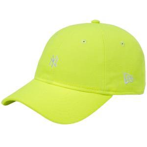 ニューエラ 930キャップ ニューヨークヤンキース ネオン アップライトイエロー スノーホワイト New Era 9THIRTY Cap New York Yankees Neon Upright Yellow|cio
