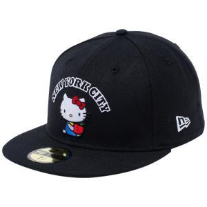 ハローキティ×ニューエラ 5950キャップ マルチロゴ ニューヨークシティ NYC ブラック Hello Kitty×New Era 59FIFTY Cap Multi Logo New York City NYC|cio