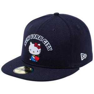 ハローキティ×ニューエラ 5950キャップ マルチロゴ ニューヨークシティ NYC ネイビー ブラック Hello Kitty×New Era 59FIFTY Cap Multi Logo New York City|cio