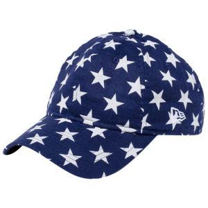 ニューエラ 920キャップ クローズストラップ リネン スターズ ホワイトスターオンネイビー スノーホワイト New Era 9TWENTY Cap Cloth Strap Linen Stars|cio