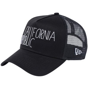 ニューエラ 940キャップ エーフレームトラッカー カリフォルニアリパブリック  ブラック New Era 9FORTY Cap A-Frame Trucker California Republic|cio