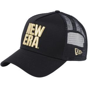 ニューエラ 940キャップ エーフレームトラッカー ビッグニューエラ ブラック ブラックメッシュ New Era 9FORTY Cap A-Frame Trucker Big New Era|cio